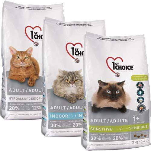 Корм фест чойс (1st choice) для кошек | состав, цена, отзывы