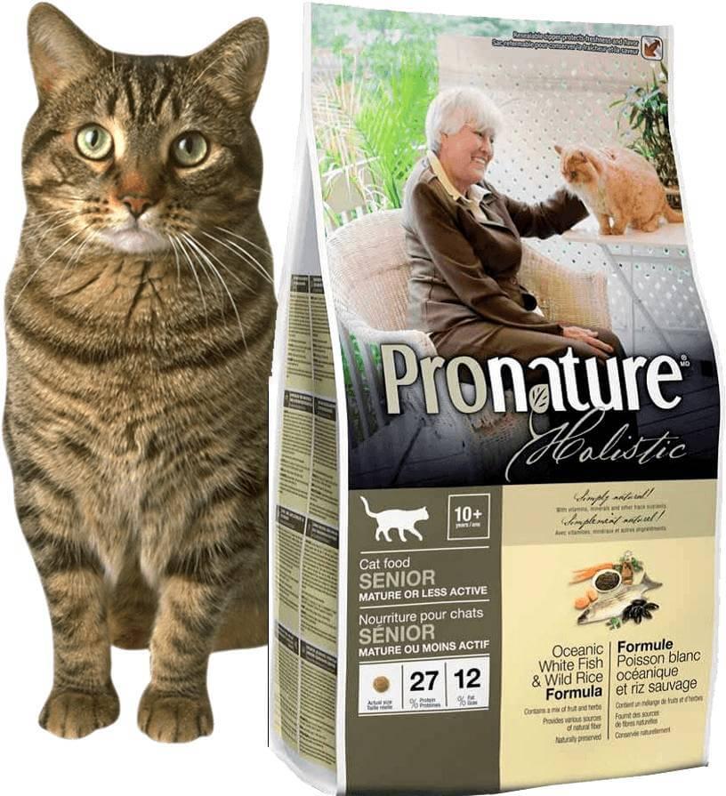 Сухой корм пронатюр для кошек - состав