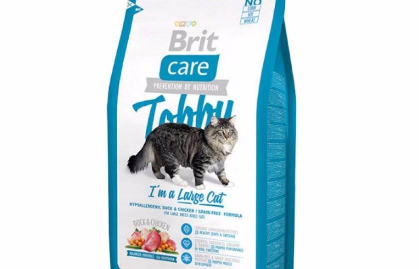 Основные линейки и состав корма для кошек «брит»