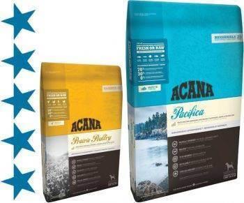 Acana regionals pacifica dog grain-free - рейтинг, обзор корма, сравнение и анализ acana regionals pacifica dog grain-free, состав и описание корма, плюсы и минусы acana regionals pacifica dog grain-free, отзывы о корме, характеристика и дозировка