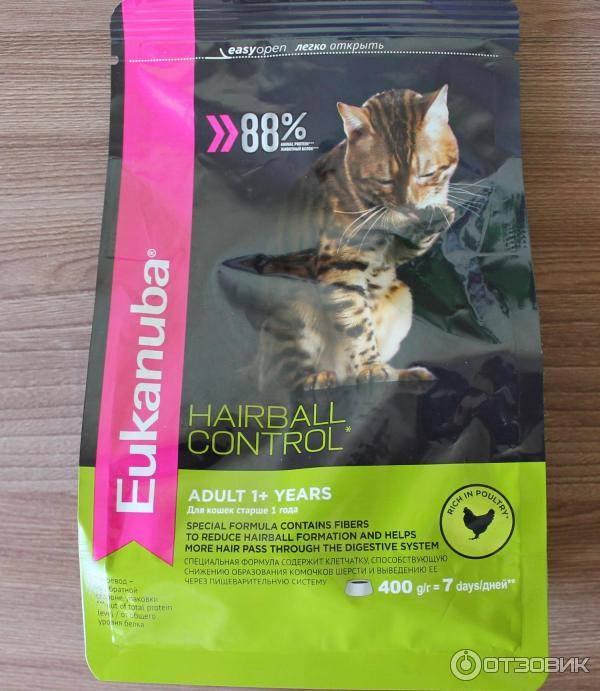 8 лучших кормов для выведения шерсти у кошки