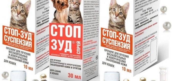 Стоп-зуд: суспензия для кошек