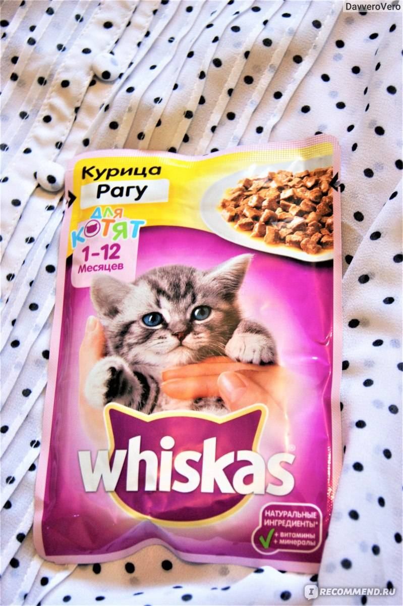Рационы whiskas для котят от 1 до 12 месяцев, отзывы