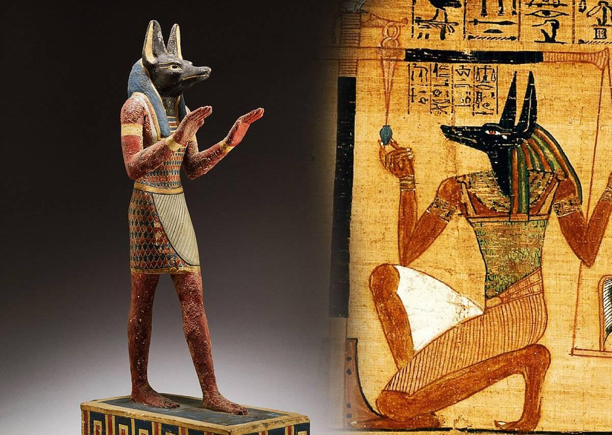 Анубис — это божество древнего египта с головой шакала, бог смерти