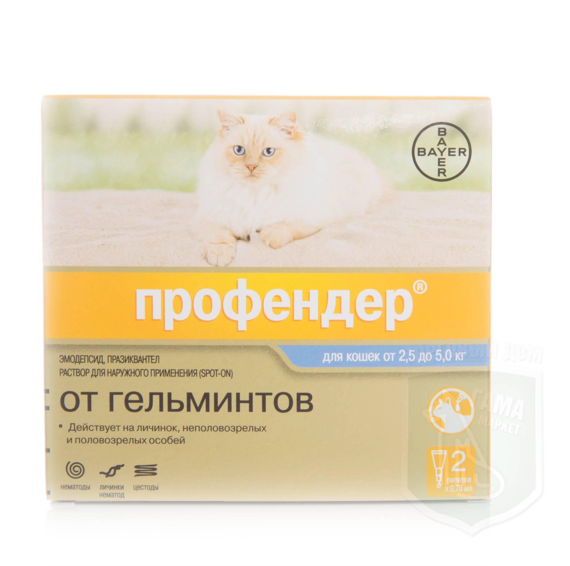 Профендер для кошек: инструкция по применению