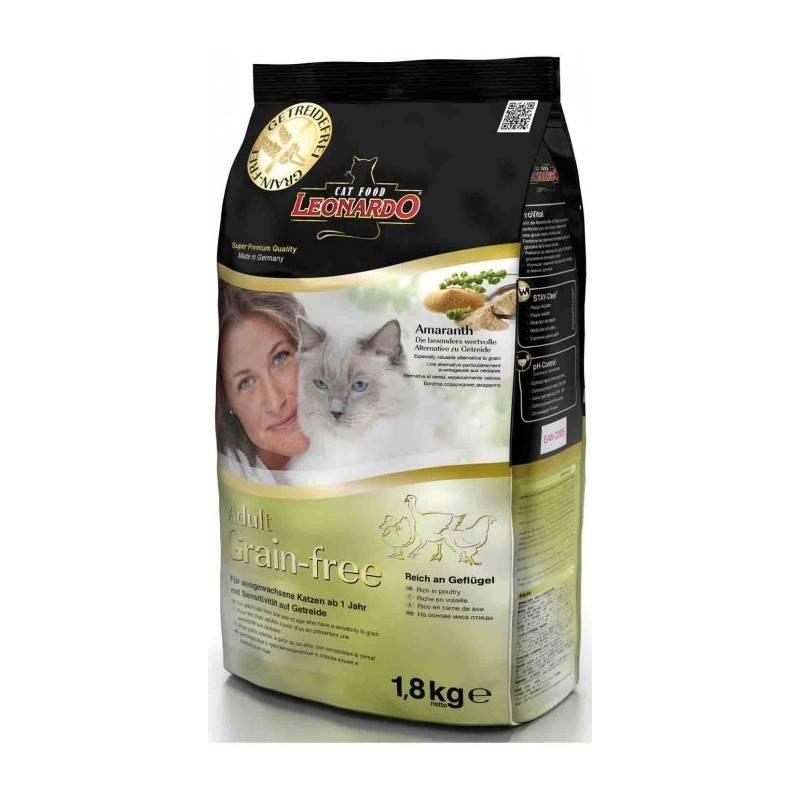 Корм для кошек leonardo adult cat lamb