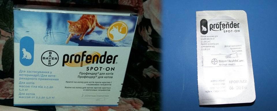 Профендер для кошек, инструкция по применению для лечения от глистов котят и взрослых животных