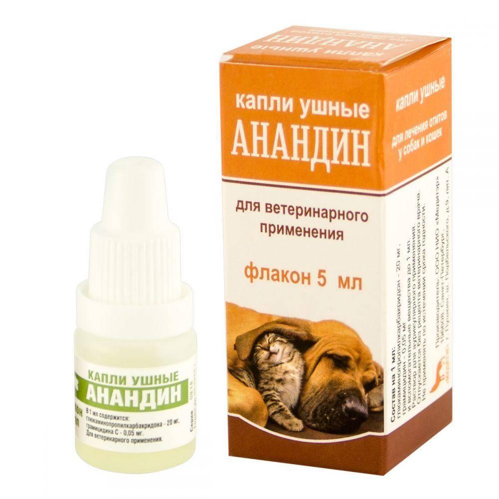 Состав и инструкция по применению анандина для кошек в форме капель – ушных, глазных и в нос, раствора для уколов и мази