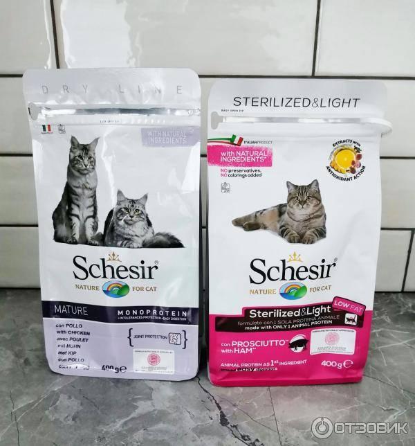 Корма для котят и взрослых кошек «шезир»: состав сухого и влажного продукта