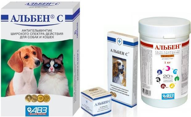 Альбен с для кошек — инструкция по применению