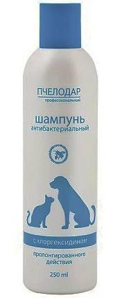 Шампунь для собак и кошек, антибактериальный, с хлоргексидином globalvet chlorohexidine