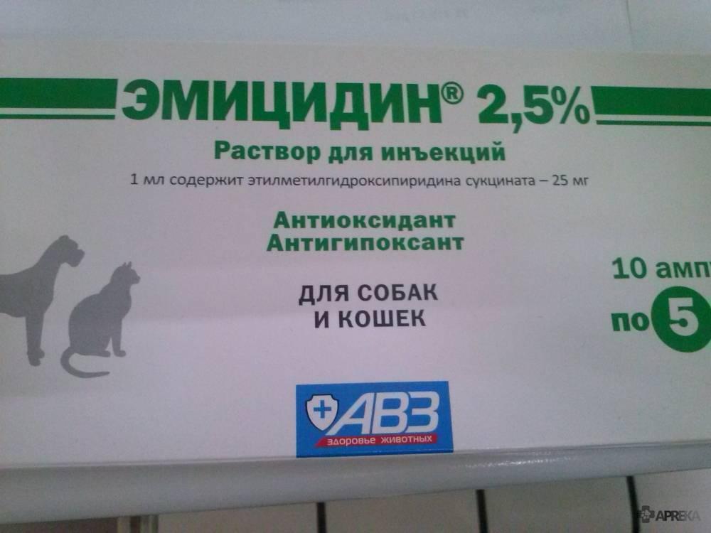 Эмицидин для кошек при отравлении