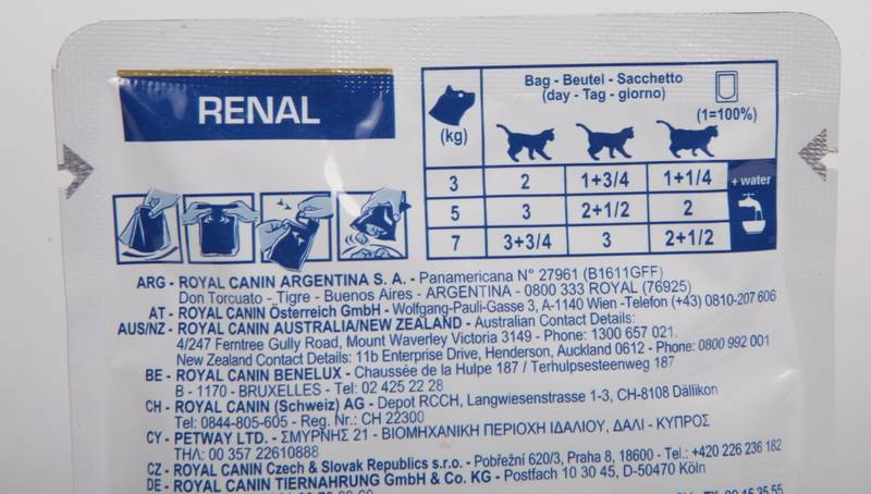 Роял канин ренал для кошек противопоказания