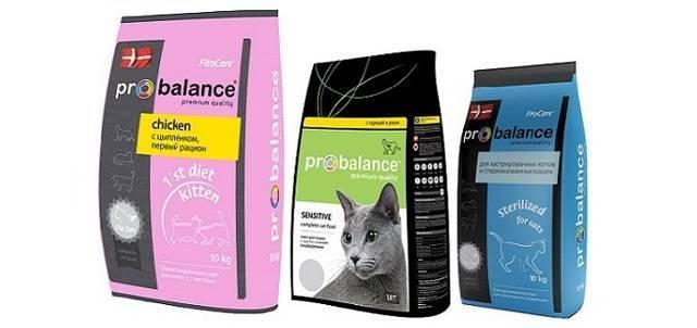 Корм для кошек пробаланс: отзывы и обзор состава   сайт «мурло»