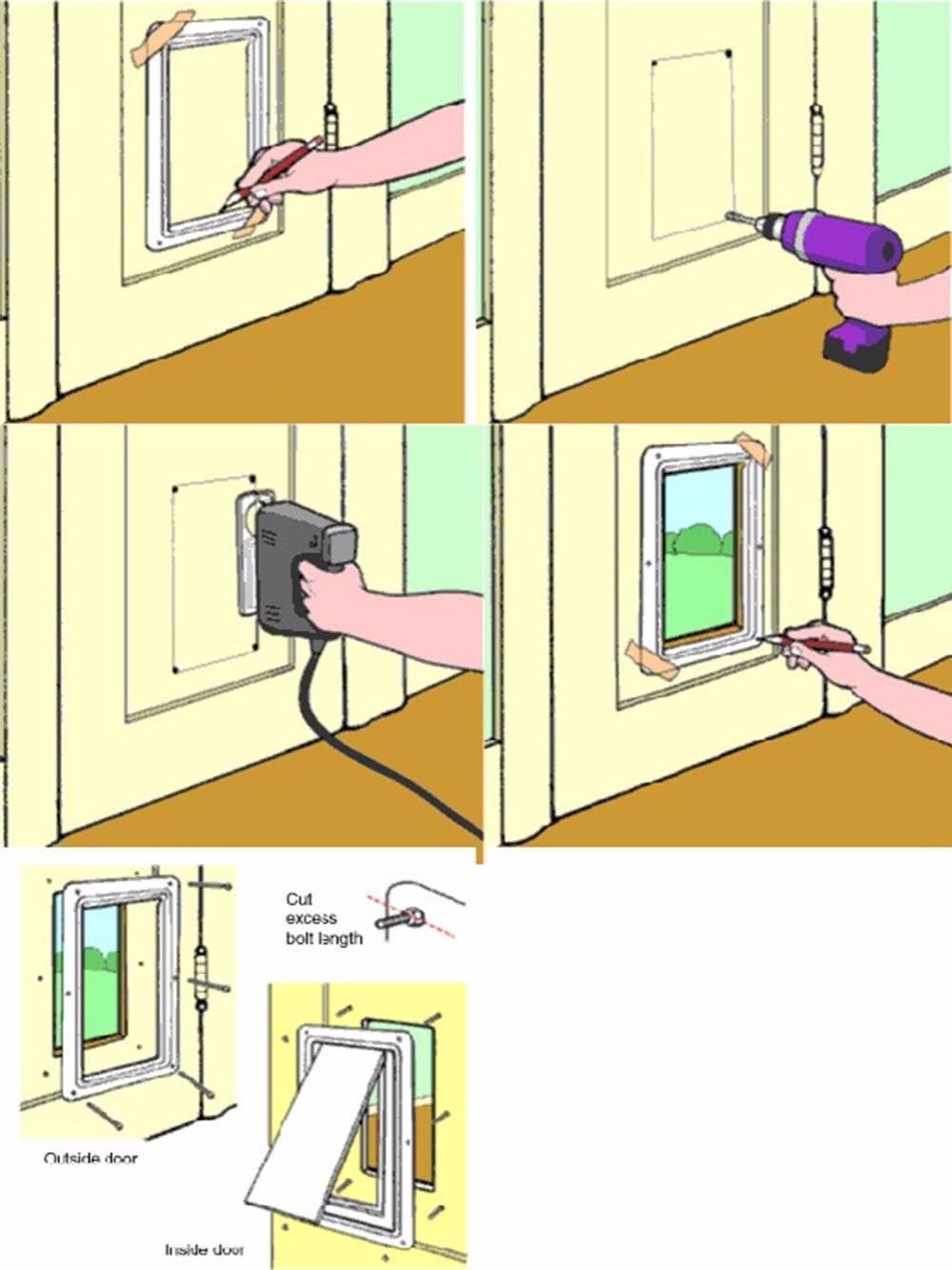 Дверца для кошки: разновидности и особенности выбора дверей, самостоятельное изготовление аксессуара, отзывы владельцев