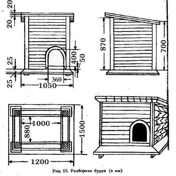 Вольер и будка для немецкой овчарки своими руками