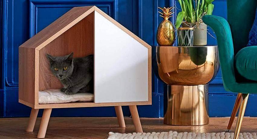 Как сделать домик для кошки (10 способов): своими руками, пошаговая инструкция, игровой комплекс в домашних условиях, из картона, когтеточка, примеры на фото