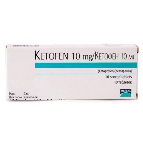 «кетофен» (раствор для инъекций, таблетки) для кошек: инструкция по применению