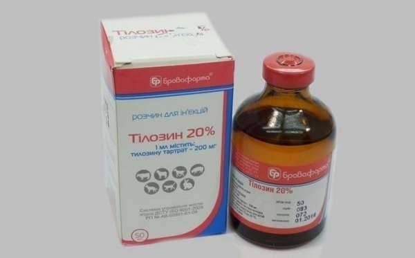 Тилозин 50 и 200 - инструкция по применению в ветеринарии, дозировка